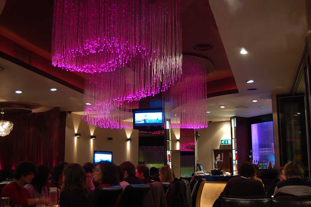 Ufo Lighting Curry Lounge Fibre Optic Ceiling Feature